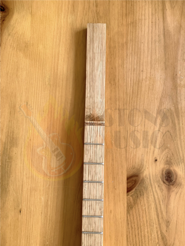 Cigar Box Guitar Neck Fretted Shaped Ash 13.5 inch scale
